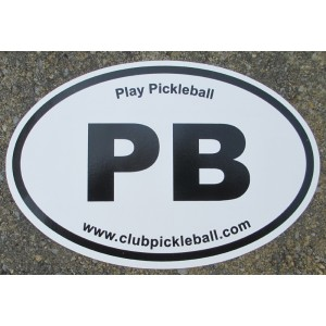 "Oval ""Play Pickleball"" Decal"